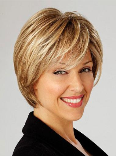 Nice Blonde Straight Short Lace Front Wigs