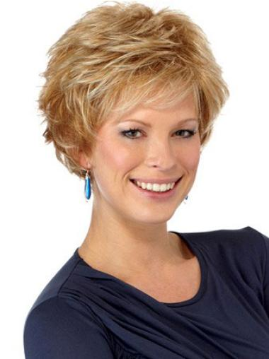 Ideal Synthetic Wavy Boycuts Short Wigs