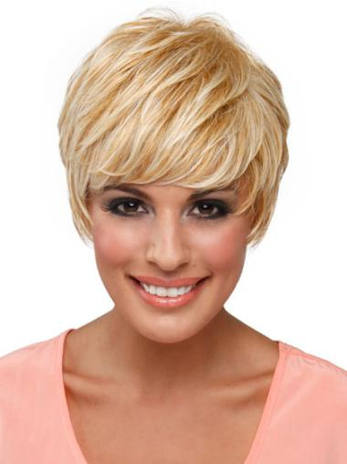 Easeful Blonde Straight Cropped Celebrity Wigs
