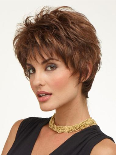 Modern Synthetic Wavy Boycuts Short Wigs