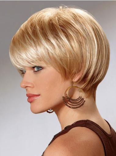 Easeful Blonde Synthetic Straight Short Wigs