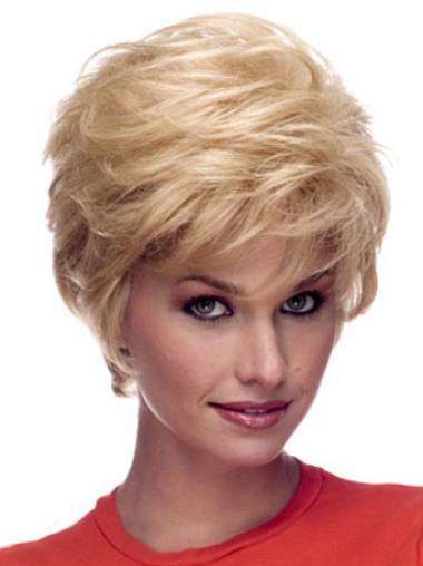 Discount Blonde Wavy Short Celebrity Wigs