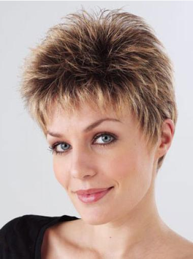 Monofilament Brown Straight Hairstyles Petite Wigs