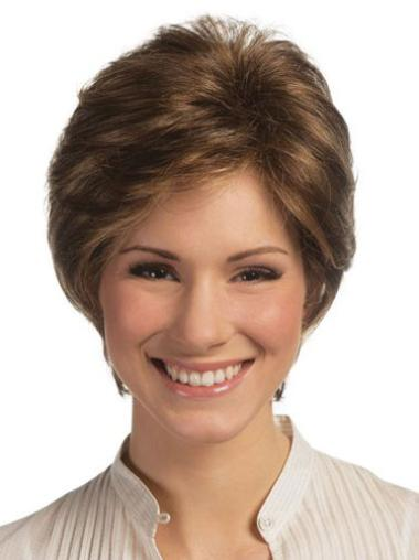 Lace Front Brown Straight Ideal Remy Human Lace Wigs