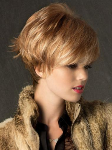 Cheapest Blonde Synthetic Straight Short Wigs