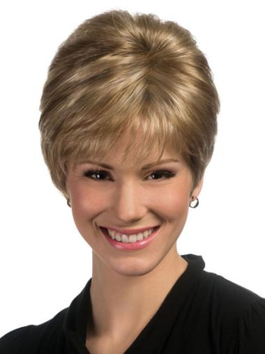 Great Blonde Synthetic Straight Short Wigs