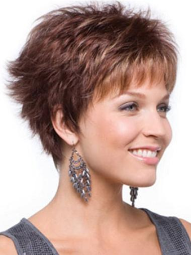 Hairstyles Synthetic Wavy Boycuts Short Wigs