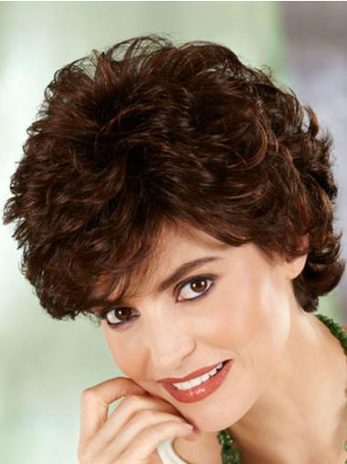High Quality Auburn Curly Short Classic Wigs