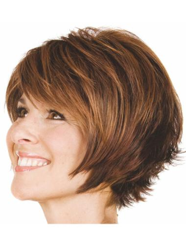 Good Brown Synthetic Wavy Short Wigs