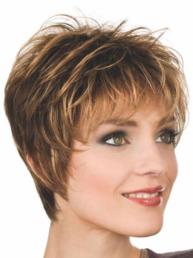 Discount Synthetic Straight Boycuts Short Wigs