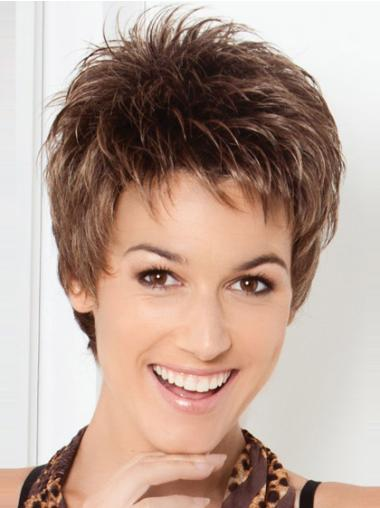 Lace Front Brown Straight New Short Wigs
