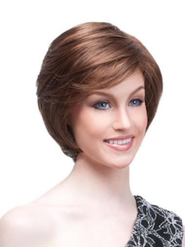 Monofilament Auburn Straight Fashionable Wigs