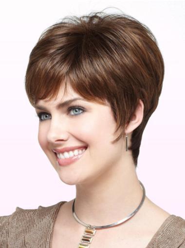 Monofilament Auburn Straight Cheapest Short Wigs