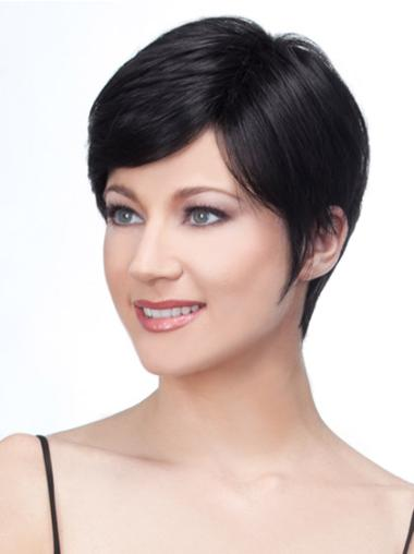 Lace Front Black Straight Soft Remy Human Lace Wigs