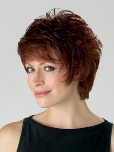 Comfortable Synthetic Wavy Layered Short Wigs