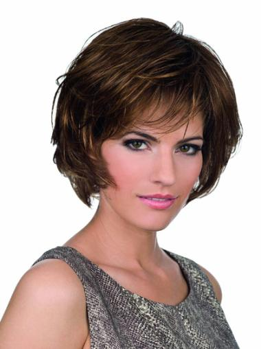 Brown Bobs Wavy Polite Lace Wigs