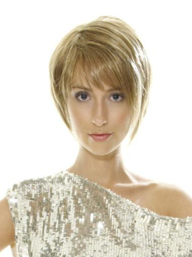 Easy Blonde Straight Short Lace Front Wigs