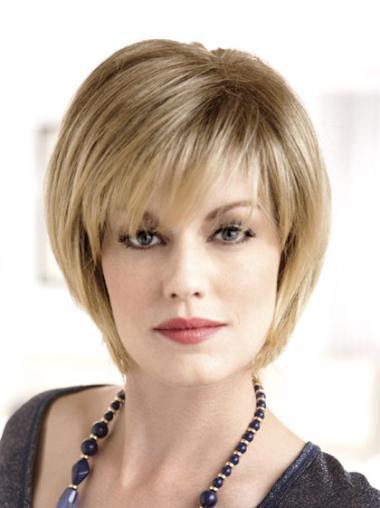 Monofilament Blonde Straight Popular Wigs