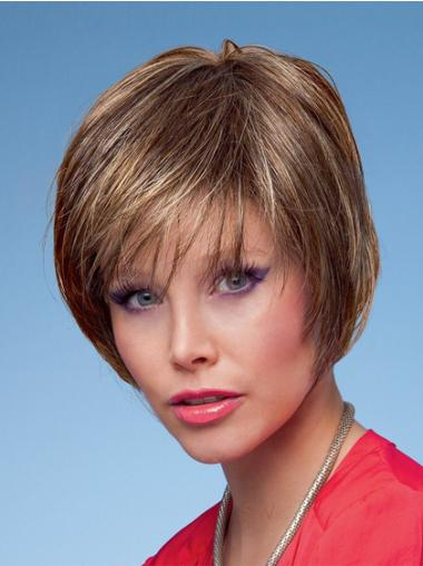 Cheap Brown Synthetic Straight Short Wigs