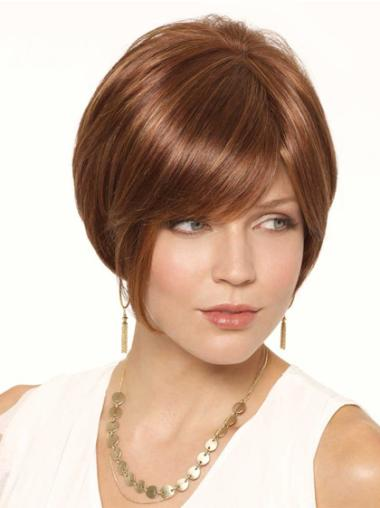 Lace Front Auburn Straight Refined Wigs