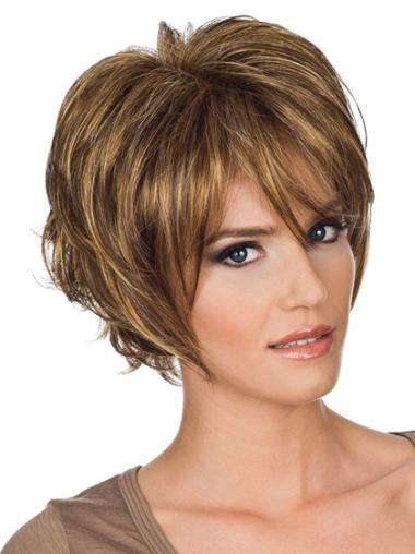 Preferential Synthetic Wavy Layered Short Wigs