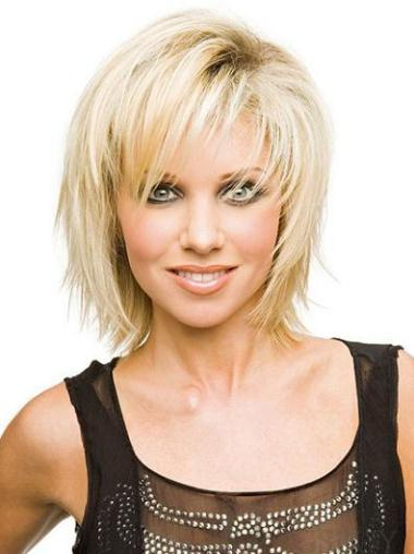 Mature Blonde Synthetic Straight Short Wigs