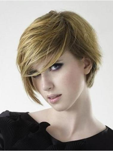 Tempting Blonde Straight Short Wigs