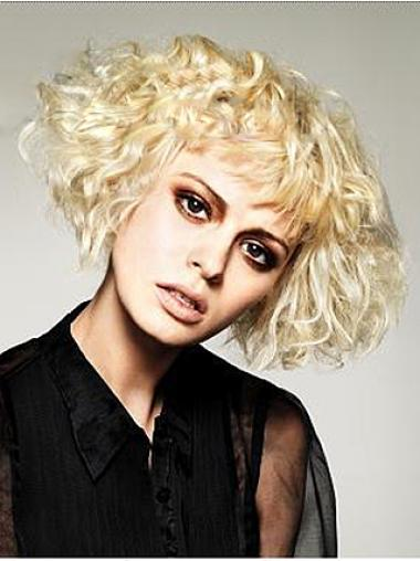No-fuss Blonde Synthetic Wavy Short Wigs