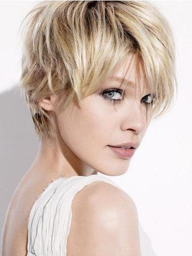 Durable Blonde Straight Short Wigs
