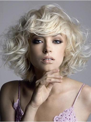 Durable Blonde Synthetic Wavy Short Wigs