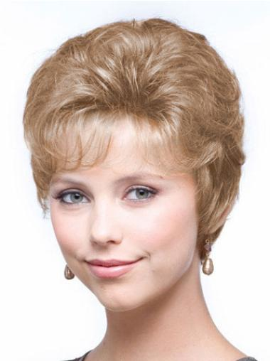 Fabulous Blonde Wavy Cropped Classic Wigs