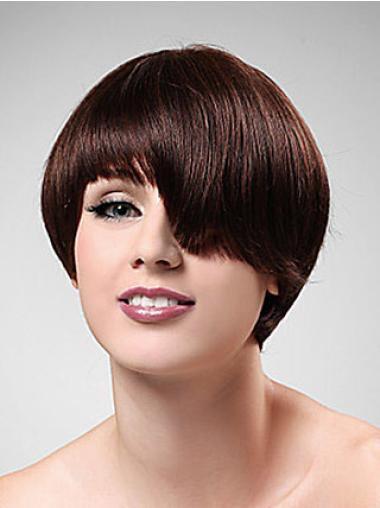 Fashion Synthetic Straight Boycuts Short Wigs
