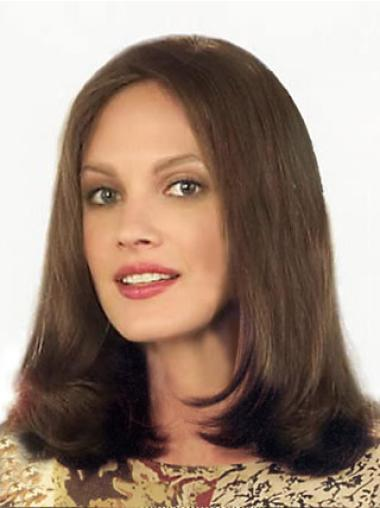 Lace Front Brown Straight Popular Remy Human Lace Wigs