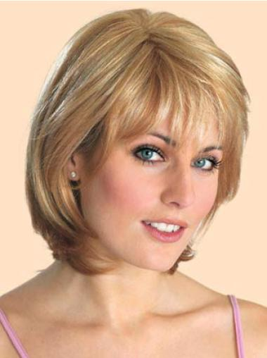 Lace Front Blonde Straight Suitable Bob Wigs