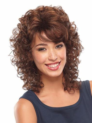 Lace Front Auburn Curly Ideal Classic Wigs