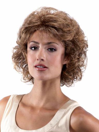 Lace Front Brown Curly Designed Classic Wigs