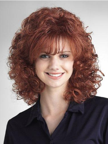 Hairstyles Auburn Curly Shoulder Length Classic Wigs