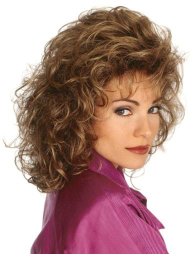 Fashionable Brown Curly Length Classic Wigs