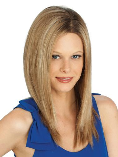 Sassy Lace Front Straight Blonde Long Wigs