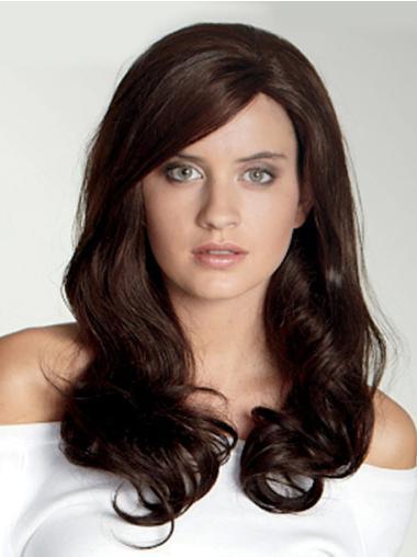 No-fuss Auburn Wavy Long Lace Front Wigs