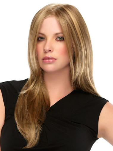 Cool Blonde Straight Long 100% Hand-tied Wigs