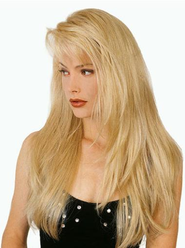 Fashion Synthetic Straight Blonde Long Wigs