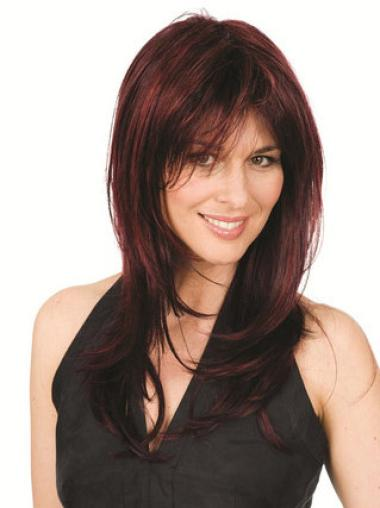Sassy Synthetic Straight Auburn Long Wigs