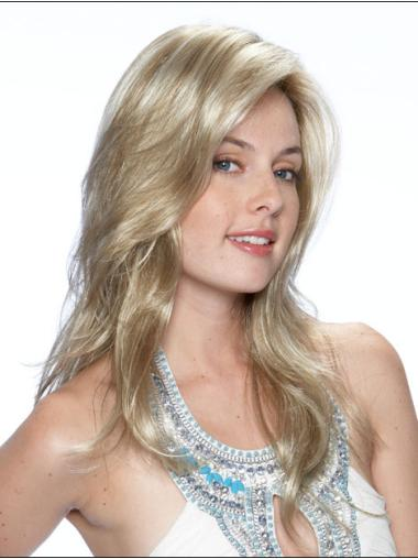 Blonde Layered Wavy Affordable Lace Wigs
