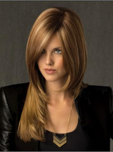 Durable Blonde Straight Long Lace Front Wigs
