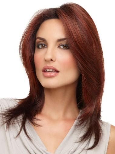 Lace Front Red Straight Popular Medium Wigs