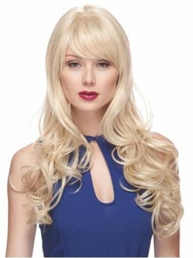 New Synthetic Wavy Blonde Long Wigs