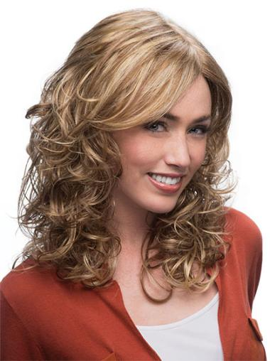 Blonde Wavy Synthetic Cheapest Medium Wigs