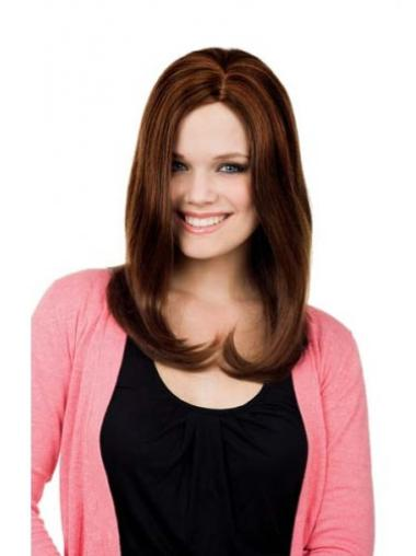 Perfect Auburn Straight Long Lace Front Wigs