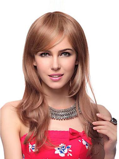Mature Synthetic Wavy Brown Long Wigs